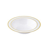 Exquisite 6 Oz White With Gold Band Bowls (10 Count)
