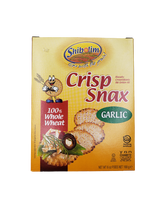 Shibolim Crisp Snax Whole Wheat Garlic Cracker, 168g
