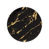 """6"""" Black Stone Design Plastic Plates - 10 Ct."""