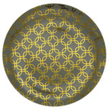 "10"" Trendables Motif Design Plastic Plates - 10 Ct."