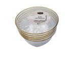 24 Oz Classic Clear Plastic Soup Bowls With Gold Band - 5 Ct.