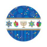 """Chanukah Celebrations Party 7"""" Dessert Plates, 18ct."""