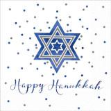 Happy Hanukkah Sparkle Dinner Napkins 16ct.