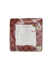 "Holiday Season 7.5"" Square Paper Plates, 20pk"