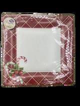 "Holiday Season 10.5"" Square Paper Plates, 20pk"