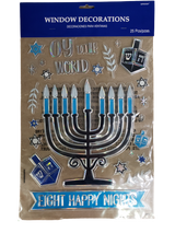 Amscan Hanukkah Window Decorations, 25pk
