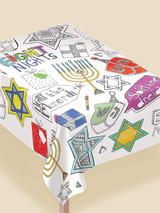 "Amscan Hanukkah Coloring Tablecover - 36"" x 48""- 1pk"