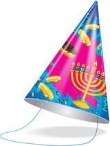 Izzy & Dizzy Chanukah Party Hats, 10pk
