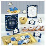 Amscan Hanukkah Buffet Decorating Kit - 12pcs