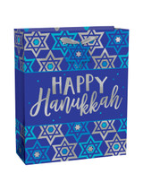 Amscan Happy Hanukkah Large Gift Bags - 1ct.