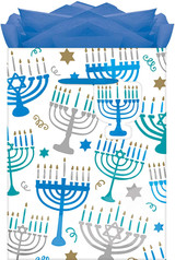 Amscan Hanukkah Menorah Medium Gift Bag - 1ct.