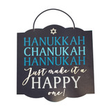 Amscan Hanukkah Chanukah Just Make It A Happy One Plaque - 1ct.