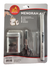 Ner Mitzvah Menorah Kit, 6pc.