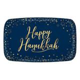 Amscan Gold Script Happy Hanukkah Platter