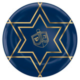 "Amscan 7.5"" Blue/Gold Dreidel Plates"