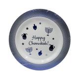 "Happy Chanukah Blue/White 10.5"" Plastic Plates, 10pk"
