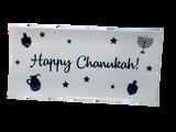 "Happy Chanukah Blue/White 13"" 6.25"" Tray, 3pk"
