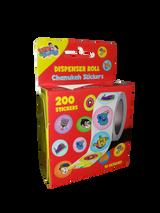 Izzy & Dizzy Chanukah Sticker Roll, 200pk