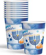 Izzy & Dizzy Blue/White 9 Oz Chanukah Cups, 10pk
