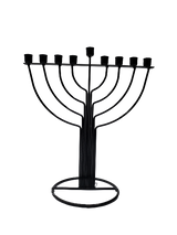 Black Round Candle Menorah