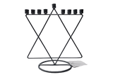 Silver Magen David Candle Menorah