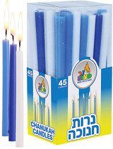 Ner Mitzvah Long Blue Candles, 45pk