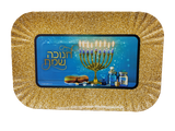Chanukah Sameach Blue/Silver Small Serving Tray