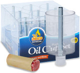 Ner Mitzvah Plastic Oil Cup Set, 9pk
