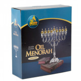 """Ner Mitzvah 10"""" Silver Plated Menorah (Lacquered)"""