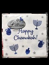 Happy Chanukah Blue/White Napkins, 24pk