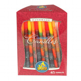 Ner Mitzvah Multi-Color Handmade Chanukah Candles, 45pk