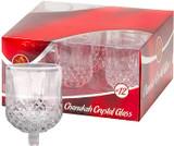Ner Mitzvah #12 Chanukah Crystal Glass, 9pk