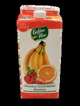 Golden Flow Orange Strawberry Banana Juice, 1.75l