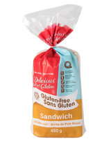 Delicious Without Gluten White Loaf, 450g