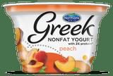 Norman's Nonfat Peach Greek Yogurt, 6 Oz