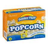 Golden Fluff Light Natural Microwave Popcorn, 255g