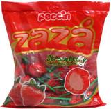 Zaza Strawberry Chewy Filled Lollipop, 396g