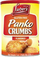 Lieber's Gluten Free Flavored Panko Crumbs, 200g