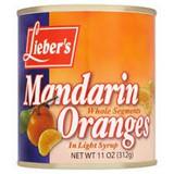 Lieber's Whole Mandarin Oranges, 312g