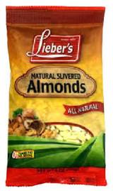 Lieber's Natural Slivered Almonds, 170g