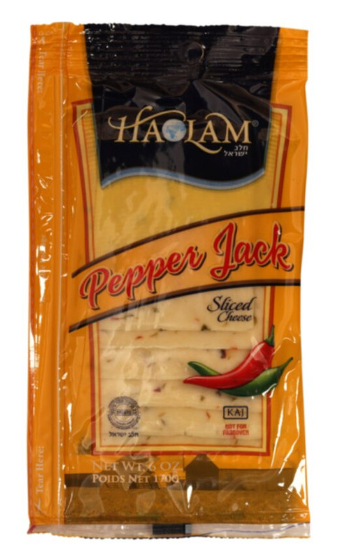 Sliced PepperJack Cheese that Rich in Calcium, Protein and Phosphorus