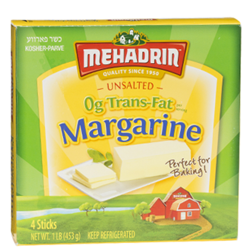 Has Vitamin C  0g Transfat Margarine  A Non-Dairy low fat altenative to butter  Ideal for Baking purpose.  Bulk  Great for commercial baking