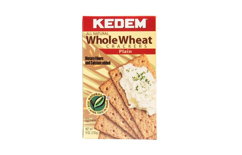 Kedem Plain  Whole Wheat Crackers  All Natural  With Dietary Fiber and Calcium