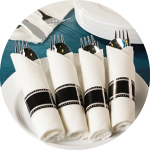 Pre-Rolled Napkins With Cutlery