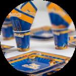 Chanukah plates