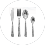 Hammered Design Flatware