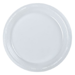 Clear round party plates