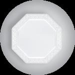 Lacetagon Pearl Plastic Plate