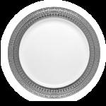 Symphony Plate White/Silver