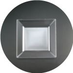 Square Clear Plates